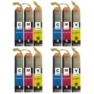 4 Go Inks Set of 3 C/M/Y Ink Cartridges to replace Brother LC3211 Compatible / non-OEM for Brother DCP & MFC Printers (12 Inks)