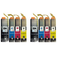 2 Go Inks Set of 4 Cartridges to replace Brother LC3211 Compatible / non-OEM for Brother DCP & MFC Printers (8 Inks)