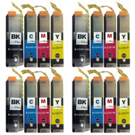 4 Go Inks Set of 4 Cartridges to replace Brother LC3211 Compatible / non-OEM for Brother DCP & MFC Printers (16 Inks)
