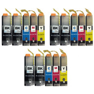3 Go Inks Compatible Set of 4 + Extra Black to replace Brother LC3217 Compatible / non-OEM for Brother MFC Printers (15 Inks)