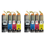 2 Go Inks Set of 4 Cartridges to replace Brother LC3217 Compatible / non-OEM for Brother MFC Printers (8 Inks)