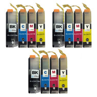 3 Go Inks Set of 4 Cartridges to replace Brother LC3217 Compatible / non-OEM for Brother MFC Printers (12 Inks)