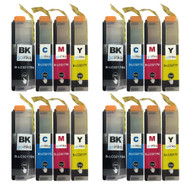 4 Go Inks Set of 4 Cartridges to replace Brother LC3217 Compatible / non-OEM for Brother MFC Printers (16 Inks)