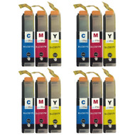 4 Go Inks Set of 3 C/M/Y Ink Cartridges to replace Brother LC3217 Compatible / non-OEM for Brother MFC Printers (12 Inks)