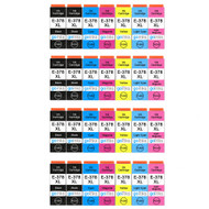 4 Go Inks Set of 6 + extra Black Ink Cartridges to replace Epson 378XL+378XLBk (Bk/C/M/Y/LC/LM) Compatible / non-OEM for Epson Expression Photo Printers (28 Inks)