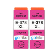 2 Go Inks Magenta Ink Cartridges to replace Epson 378XLM Compatible / non-OEM for Epson Expression Photo Printers
