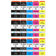 3 Go Inks Set of 5 Ink Cartridges to replace Epson 202XL Compatible / non-OEM for Epson Expression Photo Printers (15 Inks)
