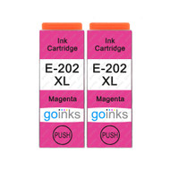 2 Go Inks Magenta Ink Cartridges to replace Epson 202XLM Compatible / non-OEM for Epson Expression Photo Printers