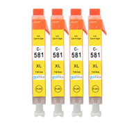 4 Go Inks Yellow Ink Cartridges to replace Canon CLI-581Y Compatible / non-OEM for PIXMA Printers