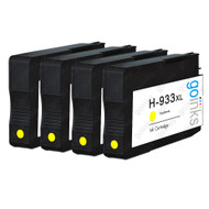 4 Go Inks Yellow Compatible Printer Ink Cartridges to replace HP 933Y (XL Capacity) Compatible / non-OEM for HP Officejet Printers