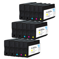 3 Go Inks Compatible Set of 4 + Extra Black to replace HP 932 Printer Ink Cartridge (15 Inks) - Black, Cyan,  Magenta, Yellow Compatible / non-OEM for HP Officejet Printers