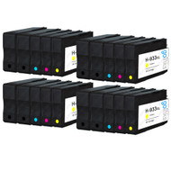 4 Go Inks Compatible Set of 4 + Extra Black to replace HP 932 Printer Ink Cartridge (20 Inks) - Black, Cyan,  Magenta, Yellow Compatible / non-OEM for HP Officejet Printers