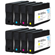 2 Go Inks Compatible Set of 4 to replace HP 932 Printer Ink Cartridge (8 Inks) - Black, Cyan,  Magenta, Yellow Compatible / non-OEM for HP Officejet Printers