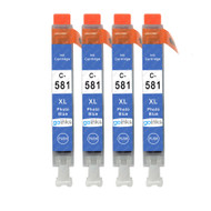 4 Go Inks Photo Blue Ink Cartridges to replace Canon CLI-581PB Compatible / non-OEM for PIXMA Printers
