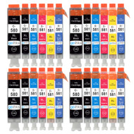 4 Go Inks Set of 6 Ink Cartridges to replace Canon PGI-580  & CLI-581 Compatible / non-OEM for PIXMA Printers (24 Pack)
