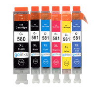 1 Go Inks Set of 6 Ink Cartridges to replace Canon PGI-580  & CLI-581 Compatible / non-OEM for PIXMA Printers (6 Pack)