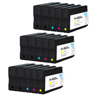 3 Go Inks Compatible Set of 4 + Extra Black to replace HP 953 Printer Ink Cartridge (15 Inks) - Black, Cyan,  Magenta, Yellow Compatible / non-OEM for HP Photosmart Printers
