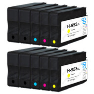 2 Go Inks Compatible Set of 4 + Extra Black to replace HP 953 Printer Ink Cartridge (10 Inks) - Black, Cyan,  Magenta, Yellow Compatible / non-OEM for HP Photosmart Printers