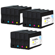 3 Go Inks Compatible Set of 4 to replace HP 953 Printer Ink Cartridge (12 Inks) - Black, Cyan,  Magenta, Yellow Compatible / non-OEM for HP Photosmart Printers