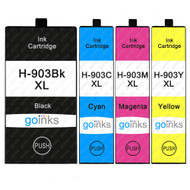 1 Go Inks Set of 4 Printer Ink Cartridges to replace HP 903 (XL Capacity) Compatible / non-OEM for HP Officejet Printers (4 Inks)