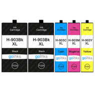 1 Go Inks Set of 4 + Extra Black Ink Cartridges to replace HP 903 + Bk (XL Capacity) Compatible / non-OEM for HP Officejet Printers (5 Inks)