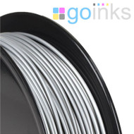 Go Inks Silver 3D Printer Filament - 0.5KG (500g) - PLA - 1.75mm. Dimensional Accuracy +/- 0.05mm