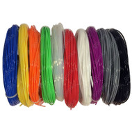 Go Inks 2M  Rainbow Samples Pack of 3D Printer Filament - 10 Colours - PLA - 1.75mm. Dimensional Accuracy +/- 0.05mm