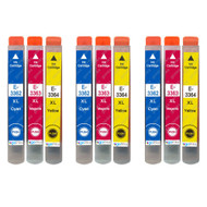 3 Go Inks Set of 3 Ink Cartridges to replace Epson T3357 (33XL Series) C/M/Y Compatible / non-OEM for Epson Expression Home Printers (9 Inks)
