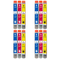 4 Go Inks Set of 3 Ink Cartridges to replace Epson T3357 (33XL Series) C/M/Y Compatible / non-OEM for Epson Expression Home Printers (12 Inks)