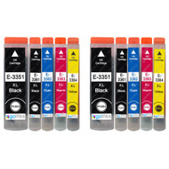 2 Go Inks Set of 5 Ink Cartridges to replace Epson T3357 (33XL Series) Compatible / non-OEM for Epson Expression Premium Printers (10 Inks)