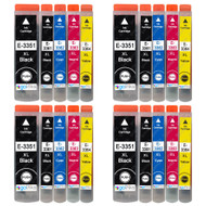 4 Go Inks Set of 5 Ink Cartridges to replace Epson T3357 (33XL Series) Compatible / non-OEM for Epson Expression Premium Printers (20 Inks)