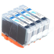 4 Go Inks Cyan Ink Cartridges to replace Canon CLI-8C Compatible / non-OEM for PIXMA & Pixus Printers