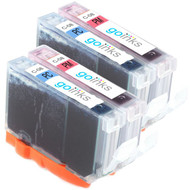 2 Go Inks Photo Set of 2 Ink Cartridges to replce Canon CLI-8PC & CLI-8PM Compatible / non-OEM for PIXMA & Pixus Printers (4 Pack)