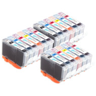 3 Go Inks Set of 6 Ink Cartridges to replace Canon CLI-8 Compatible / non-OEM for PIXMA & Pixus Printers (18 Pack)
