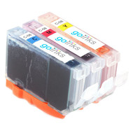 1 Go Inks C/M/Y Set of 3 Ink Cartridges to replce Canon CLI-8 Compatible / non-OEM for PIXMA & Pixus Printers (3 Pack)