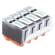 4 Go Inks Black Ink Cartridges to replace Canon PGI-5Bk Compatible / non-OEM for PIXMA & Pixus Printers