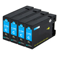 4 Go Inks Cyan Ink Cartridges to replace Canon PGI-1500XLC Compatible / non-OEM for PIXMA Printers