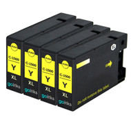 4 Go Inks Yellow Ink Cartridges to replace Canon PGI-1500XLY Compatible / non-OEM for PIXMA Printers