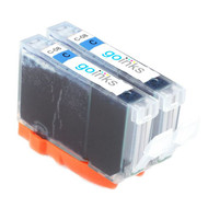 2 Go Inks Cyan Ink Cartridges to replace Canon CLI-8C Compatible / non-OEM for PIXMA & Pixus Printers