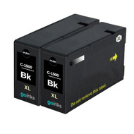 2 Go Inks Black Ink Cartridges to replace Canon PGI-1500XLBk Compatible / non-OEM for PIXMA Printers