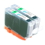 2 Go Inks Green Ink Cartridges to replace Canon CLI-8G Compatible / non-OEM for PIXMA Printers