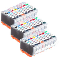 3 Go Inks Set of 8 Ink Cartridges to replace Canon CLI-8 Compatible / non-OEM for PIXMA Printers (24 Pack)