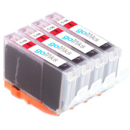 4 Go Inks Red Ink Cartridges to replace Canon CLI-8R Compatible / non-OEM for PIXMA Printers