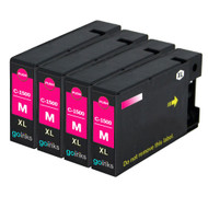 4 Go Inks Magenta Ink Cartridges to replace Canon PGI-1500XLM Compatible / non-OEM for PIXMA Printers