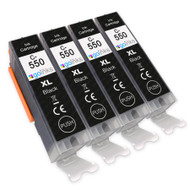 4 Go Inks Black Ink Cartridges to replace Canon PGI-550Bk Compatible / non-OEM for PIXMA Printers
