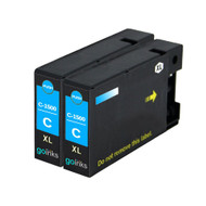 2 Go Inks Cyan Ink Cartridges to replace Canon PGI-1500XLC Compatible / non-OEM for PIXMA Printers