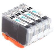 4 Go Inks Black Ink Cartridges to replace Canon CLI-8Bk Compatible / non-OEM for PIXMA & Pixus Printers