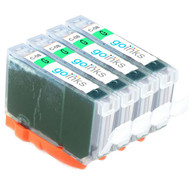4 Go Inks Green Ink Cartridges to replace Canon CLI-8G Compatible / non-OEM for PIXMA Printers