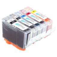 1 Go Inks Set of 5 Ink Cartridges to replace Canon PGI-5 & CLI-8 Compatible / non-OEM for PIXMA & Pixus Printers (5 Pack)