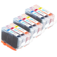 3 Go Inks C/M/Y Set of 3 Ink Cartridges to replce Canon CLI-8 Compatible / non-OEM for PIXMA & Pixus Printers (9 Pack)